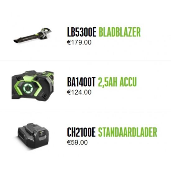 EGO BLADBLAZER LB5301E complete set met accu en lader