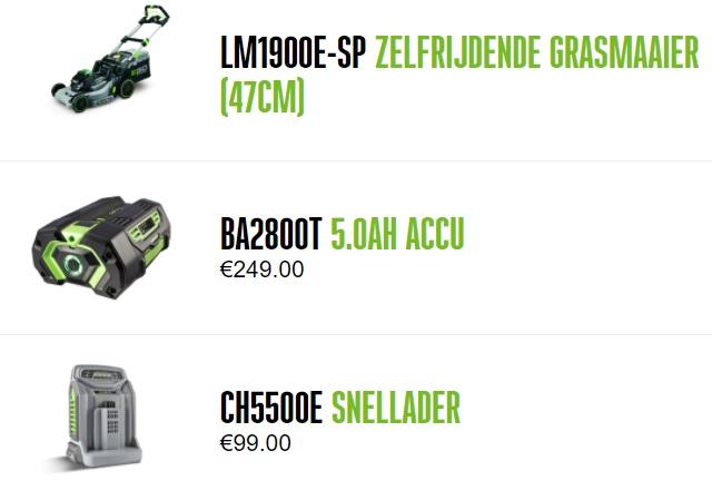 Grasmaaier LM1903E-sp EGO combinatie kit